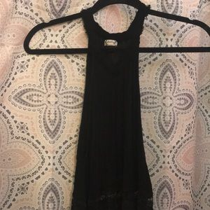 Free People all black & lace dress